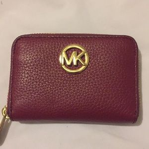 Michael Kors mulberry leather wallet NWT